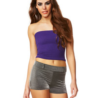 Purple Rain Basic Cotton Tube Top