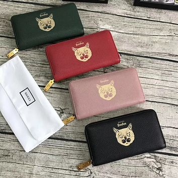 GUCCI 2018 HOT STYLE LEATHER ZIPPER WALLET