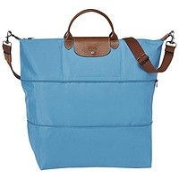 "Travel bag 2 size 2 style ( blueberry ) by longchamp paris "" LE PLIAGE"" 100% authentic original from PARIS FRANCE"