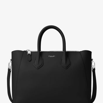 Helena Large French Calf Leather Satchel | Michael Kors
