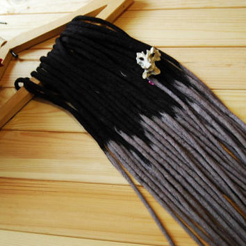 140 Wool dreads full set DE dreadlocks extensions double ended