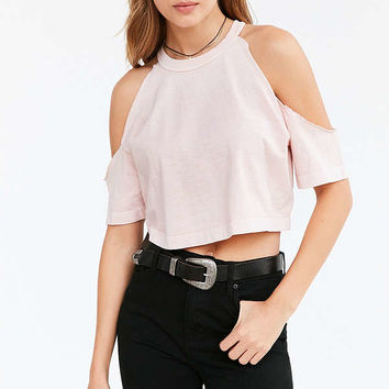 Truly Madly Deeply Courtney Cold-Shoulder Tee | Urban Outfitters