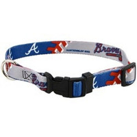 Atlanta Braves Dog Collar - Large