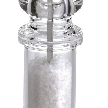 COLE & MASON 505 Salt and Pepper Grinder Set - Clear Acrylic Mills Includes Precision Mechanisms and Premium Sea Salt and Peppercorns