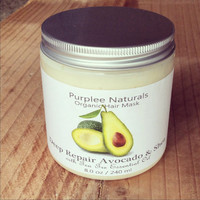 Organic Hair Mask {DEEP REPAIR} ~ W/ Avocado Shea butter + Maracuja oil