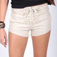 Cherie Corset Shorts - Gypsum Style || Women's Apparel & Accessories