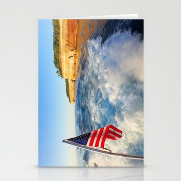 Pictured Rocks Flag Stationery Cards by Lindsey Jennings Photography