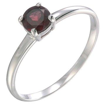 12 CT Garnet Solitaire Ring 925 Sterling Silver