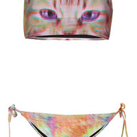 Pink Kitty Bandeau Bikini - Bikini Sets - Swimwear  - Clothing
