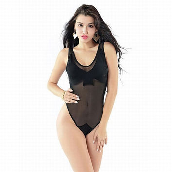 Sexy Women One-Piece Transparent One Piece Swimsuit