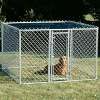 "Chain Link Portable Kennel - 6"" X 6"" X 4"""