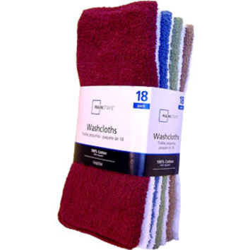 Walmart: Mainstays 18 Pack Washcloth Collection