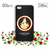 divergent dauntless the brave iPhone 5, 5s, 5C, 4, 4S , Samsung Galaxy S3, S4, S5 , iPod Touch 4 / 5 Case