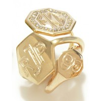 Octagon Signet Ring with Diamonds by Emily & Ashley | Charm & Chain