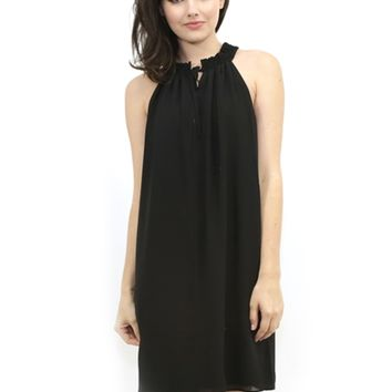 Susana Monaco Daria High Neck Mini Dress in Black | Boutique To You