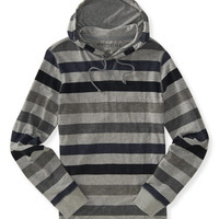 Aeropostale  Long Sleeve Striped Hooded Tee