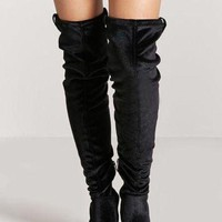 Velvet Thigh High Boots