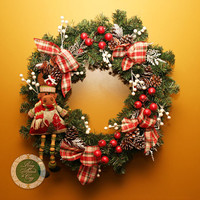 Moose Wreath Holiday Wreath Christmas Wreath PIne Wreath Canada Wreath Holiday Decor Moose Gift Fun Wreath Funky Wreath wreaths under 100