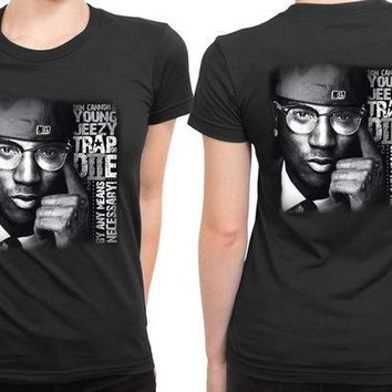 MDIG1GW Young Jeezy Trap De Necessary 2 Sided Womens T Shirt