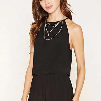 Womens Solid Jumpsuit Short and Top