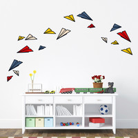 I liked this design on #Fab. Paper Planes Medium Wall Decals