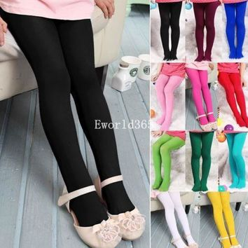 Girls Tights Leggings Toddler stockings Cute Velvet 11 Colors 45cm