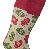 Jolly Holidays Collection Mitten Stocking (Set of 2)