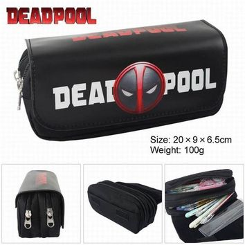 Deadpool Dead pool Taco High Quality Super Heroes  Fabric Bag ,Cartoon Double Zipper School Pencil Bag Action Toy Kids Gift 144 AT_70_6