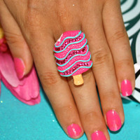 Cute Large Ice Cream Candy Fashion Ring /Pink by YourFashionAlli