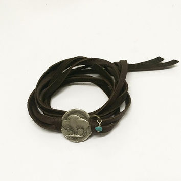 Pennylane Buffalo Head Nickel Wrap bracelet