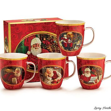 4 Magical Santa Christmas Holiday Mug