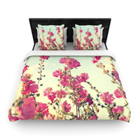 KESS InHouse Pink Lavatera by Sylvia Cook Woven Duvet Cover