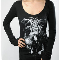 "Wonderland LA - KAT VON D - ""Oslo"" LONG SLEEVED TOP"