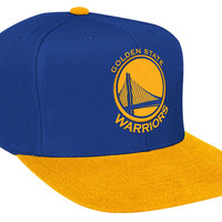 Mitchell & Ness Golden State Warriors XL Logo 2T Snapback In Blue