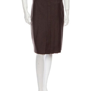 Akris Punto Wool Skirt