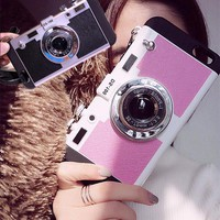 Fashion 3D Camera Model Phone Case For iphone 6 s 6s Plus Case Silicone 5.5 4.7inch Funky Coque Fundas back cover for iphone6