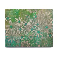 "Marianna Tankelevich ""Spring Daisies"" Green White Birchwood Wall Art"