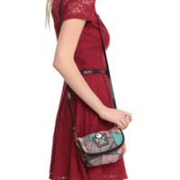 The Nightmare Before Christmas Sally Patchwork Canvas Crossbody Bag
