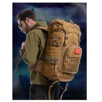Outdoor Sports Bag Camping Travel Hiking Climbing Pack Multifunction Military Tactical Backpack with MOLLE Bag 2017 D040