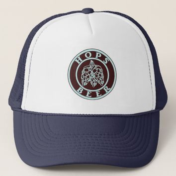 Hops & Beer - Lite Blue Trucker Hat