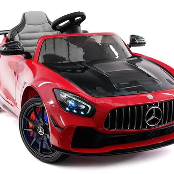 Mercedes GT AMG 12V Kids Ride-On Car with Parental Remote | Cherry Red