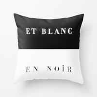 Black & White Contrast Pillow Cover