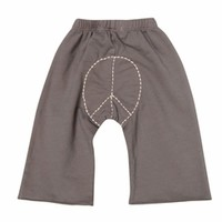 Go Gently Baby Organic Peace Pants in Slate