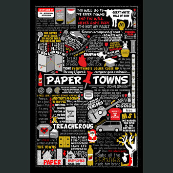 Paper Towns Collage Poster