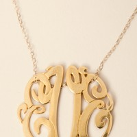 Soixante Neuf 14k Gold Vermeil Monogram Necklace