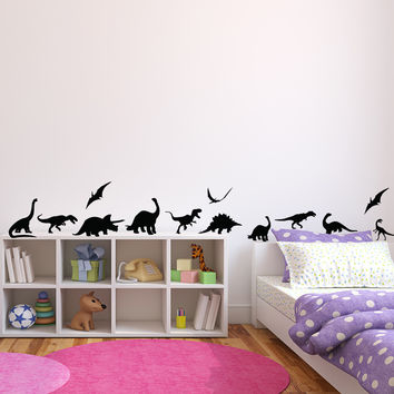 Pack of 13 Dinosaurs vinyl wall decal dinosaur