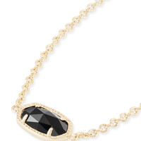 Kendra Scott Elaina Black and Gold Adjustable Bolo Bracelet