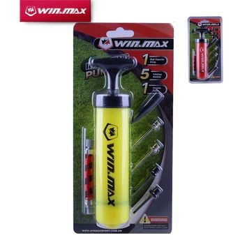 Winmax Plastic Hand Air Ball Pump Needle Ball Party Balloon Soccer Inflator for Football and Basketball