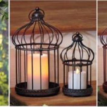 Bird Cage Planter Garden Decor Indoor Outdoor Patio Candles Hanging Tabletop NEW
