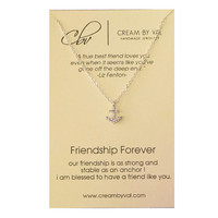 Friendship Forever Necklace- Silver Anchor Necklace Celebrate Friendship Gift Ideas For BFF Forever Friends Christmas Gift for BFF Necklace